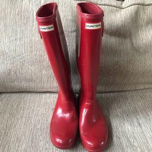 Women's Hunter Tall Rain Boots Sz 10 GUC